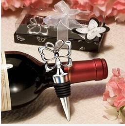 presents wine 2019 - 2015 NEW Butterfly Theme Wine Bottle Stopper 100PCS LOT wedding favors guest present gifts Free shipping discount presen