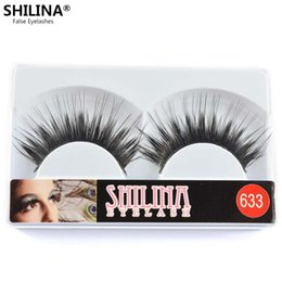 Shilina Faux Cils Pas Cher-633 faux cils-Shilina gros 10 paires main Natural Long Black Winged Faux gros Maquillage Cils Extension Professionnel