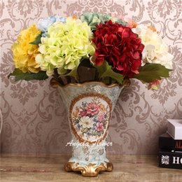 $enCountryForm.capitalKeyWord Canada - 2015 Hand bouquet Real Touch Artificial Hydrangea flowers 14 colors Home Table decorative for wedding party Birthday