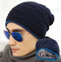 $enCountryForm.capitalKeyWord Canada - 2015 Unisex Spring Fashion Beanies Knit Beani Hat Winter Hat For Man And Women Solid Color Elastic Hip-Hop Cap Gorro With velvet