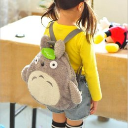 $enCountryForm.capitalKeyWord Canada - Peckhamrye Totoro Cartoon Backpack For Kids Baby 'S Bags Green Leaf Backpacks Cute School Book Bags Plush Christmas Festival Gift
