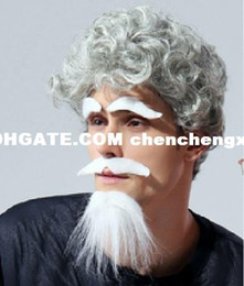 $enCountryForm.capitalKeyWord Australia - Protagonist Novelty Cosplay Halloween supplies props fake beard children masquerade fake white eyebrows
