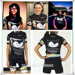 Wholesale-2015 Women Cycling Jersey Vanderkitten Bicycle Clothing Bib Shorts  Ropa Maillot ciclismo Cute Black 0bbaaba83