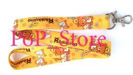 "$enCountryForm.capitalKeyWord Canada - Wholesale - Cartoon Japanese Anime San-X Rilakkuma Time Cell Phone Straps & Charms   neck Lanyard Key Chain 18"""