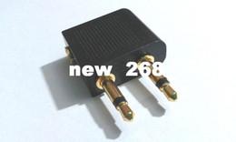 100 x banhado a ouro de avião / avião / air plane viagem fone de ouvido / fone de ouvido jack adaptador de áudio 3.5mm