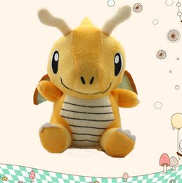 Figures Australia - ArielBaby New Baby Toy Dragonite Pikachu Dragon Figure Collectible Soft Stuffed Animal Doll Approx 16cm 6""