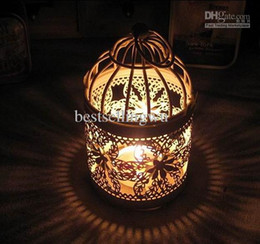 Bird Cage Candle Holders Weddings Lantern Iron Holder Round Shape Wedding Favors Home Decor Decorations Supply