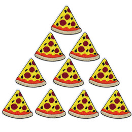 Wholesale pizza clothes online – oversize 10 Cheese Pizza Patch for Clothing Bags Iron on Embroidery Patches for Jeans DIY Fabrics for Patchwork Sew on Badge
