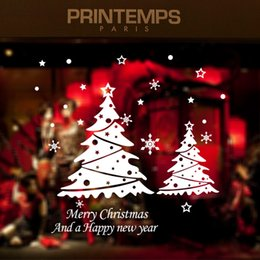 $enCountryForm.capitalKeyWord Canada - Merry Christmas & Happy New Year Snowflake Wall Window Art Sticker PVC Christmas tree Removable holiday decoration decal