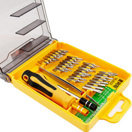 magnetic precision screwdriver set NZ - 32 in 1 set Micro Pocket Precision Screwdriver Kit Magnetic Screwdriver cell phone tool repair box Hardware Repair MicroData MA3