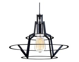 Ring Art Design UK - New design Modern Barn Metal Wire Pendant Lights With E27 Lampholder Dia 14 Inch Nordic Warm Loft Iron Circle Ring Edison Pendant Lights