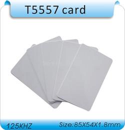 $enCountryForm.capitalKeyWord NZ - Free shipping(50 Pcs)125Khz RFID Writable chips  T5577 T5557 Cards Proximity Rewritable white PVC
