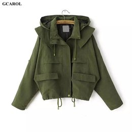 Femmes Portant Des Hoodies Pas Cher-Gros- Femmes Euro Style Hoodies Trench Mode Casual Draw String Manteau Printemps Automne Fille Surdimensionné Rue Porter Court Manteau
