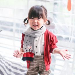 $enCountryForm.capitalKeyWord Canada - Wholesale high quality Jacquard Pattern Knitted Scarf classic 100%cotton Children fall winter warm baby wrap scarfs thick shawl scarf ring