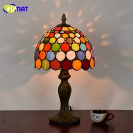 Red glass lamp shades online red glass lamp shades for sale fumat european style stained glass art deco table lamp american tiffany bar ktv table lights glass shade lamps mozeypictures Gallery