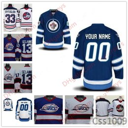 897050de7b2 Stitched Custom Winnipeg Jets mens womens youth kids OLD BRAND royal Blue  White Third Personalized Ice Hockey cheap vintage Jerseys S-5XL