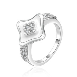 Band Paint Canada - 925 Sterling Silver Rings Clear Zircon Rings White Paint Rings For Women Size 8