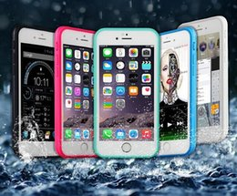 """Iphone Front Back Case Canada - Hot 100% Sealed Waterproof Water Resistant Full Body Screen Protect Soft TPU Gel Front & Back Case For iPhone 6 6s  iphone6 4.7"""""""