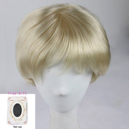 Mens Hair Canada - New Fashion Cheap Short Synthetic Hair Wigs For Women African American Mens Daily Party Cosplay Wigs With Bangs Free Shipping