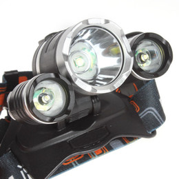 Boruit Headlamps Canada - 50pcs lot Boruit JR-3000 CREE XML T6 2R5 4 Mode Hiking LED Headlamp Headlight 5000 Lumens With wall Charger FREE SHIPPING