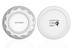 $enCountryForm.capitalKeyWord Canada - Qi Fast Wireless Chargers pad Diamonds Ultrathin With LED Light With USB Cable Cell Phone Chargers Free Ship