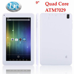 hdmi dual tablet inch UK - 9 inch Android 4.4 Quad Core ATM 7029 A33 Q88 Tablet PC 8GB ROM OTG with HDMI Dual Camera with Flashlight Tablet PC 5 Colour