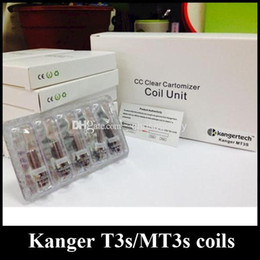 kanger t3s clearomizer NZ - 100% Authentic Kanger MT3S T3S coil head Clearomizer Coils E cigarette MT3S T3S atomizer Replacement heads With 1.8&2.2ohm Genuine