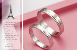 $enCountryForm.capitalKeyWord Canada - Hot Sale 925 Sterling silver Ring Love Forever For Couples Jewelry Beautiful Wedding   Engagement Gift Free Shipping Various Sizes