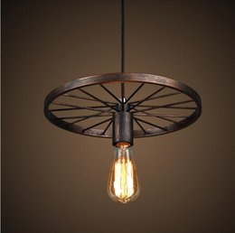 Vintage Pendant Light Fitting American Style Rope Drop Lamp Lustre Antique Edision Bulb Suspension For Dining Room
