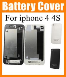 abe059af0da Carcasas de teléfonos celulares para iphone 4 4G iphone 4s Tapa trasera  Carcasa de batería Estuche de puerta Reemplazo parte de iphone Negro Blanco  Alta ...