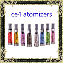 Ego T Ce4 Colorful Canada - Ecig tanks Electronic Cigarette ego ce4 Atomizer vaporizer tanks 1.6ml eGo T CE4 Cartomizer Black Colorful Tips E-cigarette Clearomizer