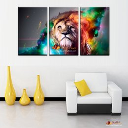 3 Panel Large Canvas Wall Art Modern Abstract Lion Decoration Oil Painting  Printed On Canvas Wall Picture For Living Room Paintings For Sale Part 54