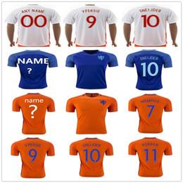 Netherlands Soccer Jerseys Men 9 V.PERISIE 8 KLAASSEN 10 SNEIJDER 11 ROBBEN  23 VAN DER VAART 7 JANMAAT MEMPHIS Holland Football Shirt cheap holland  soccer ... 57692f35a