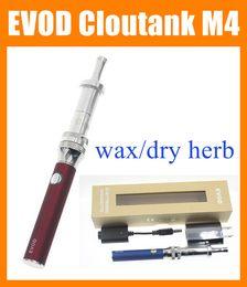 Evod Pen E Cigarettes NZ - EVOD Cloutank M4 Gift Kit E Cigarette EVOD Battery Cloutank M4 Atomizer cloutank m4 Vaporizer Pen dry herb dry herbal Mod cigarettes LH010