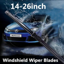 $enCountryForm.capitalKeyWord Canada - High quality Car Flat Upgrade Frameless Bracketless Rubber Windshield Windscreen Wiper Blade 14-26 inch abs