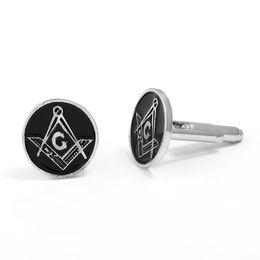 Masonic gifts for Men online shopping - Classic Gold Round Cufflinks Masonic Freemasonry Peace Mens Costume Accessories For Men Christmas Gift