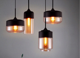 Pendant Lights Dining Room Canada - NEW Modern Tom Glass Chandeliers LED pendant lights for dining room Indoor Contemporary lighting E12 E27 Edision lamps kitchen lights 1M