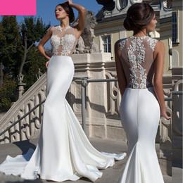 Discount See Through Corset Wedding Dress Train 2017 See Through