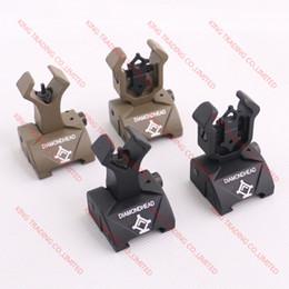 Flip Iron NZ - Diamondhead DIAMOND Combat Flip-Up Rear & Front Sight Folding Iron Sights for Black Dark Earth(KT1580)