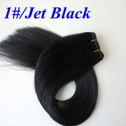 $enCountryForm.capitalKeyWord Canada - Brazilian hair bundles 100% Human Hair Weaves 100g 20inch 1# Jet Black Straight hair wefts no shedding Indian hair Extensions
