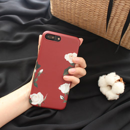 Iphone Plus Case Floral NZ - Fashion Floral Flower Painting Phone Case for iphone X Soft TPU Silicone Back Cover Protecter for iphone 8 7 6 6s plus