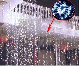 $enCountryForm.capitalKeyWord Australia - Curtain String Lights Garden Lamps New Year Christmas Icicle Lights Xmas Wedding Party Decorations 150LEDs 3M*1M