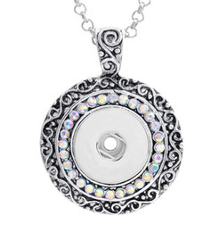 Noosa giNger sNap buttoNs online shopping - 18mm NOOSA Ginger Snap Button Pendants with Crystal Diamond Jewelry Interchangeable Necklaces Accessory Jewerly for Men Women Christmas Gift