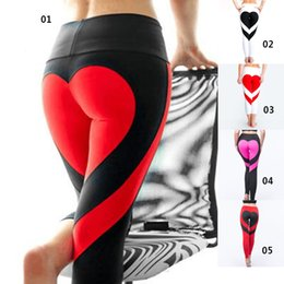 $enCountryForm.capitalKeyWord Canada - High elasticity Heart Yoga Pants Women Fitness Gym Leggings Elasticity Patchwork Yoga Pants workout exercise Milk Fiber