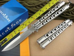 Livraison gratuite tout en acier poignée 440C lame lame pliante couteau de haute qualité BM42