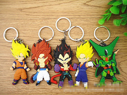 superman action toys NZ - NEW Dragon Ball Z action figure Goku   Vegeta   Raditz   Cell   Super Saiya keychains Dragonball toys Key Chains 5 design B001