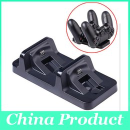 $enCountryForm.capitalKeyWord Canada - New Wireless Dual USB Charging Dock Station Stand for playstation 4 PS4 Game Controller Black Charger for dualshock 4 handle 010205