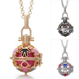 Pregnancy Chime Pendant Canada - Chimes Pregnancy Ball neckLace pendant three color plated Angel Ball Necklace Special necklace for pregnant women fashion drop oil necklace