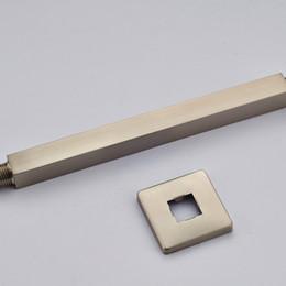 High Quality Ceiling Mount Shower Arm 25 Cm Brass Shower Head Holder Brushed  Nickel