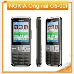 Original C5 desbloqueado Nokia C5-00i teléfono móvil cámara 3.2MP / 5MP GPS Bluetooth C5-00 teléfono móvil restaurado en venta